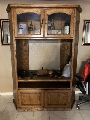 Wooden TV Stand for Sale in Stockton, CA