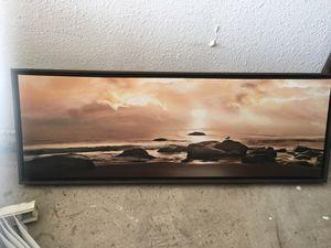 Ocean print in sepia tones for Sale in US