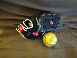 Rawlings Softball Glove and Ball for Sale in Chicago, IL