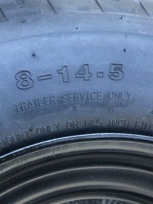 Mobile home tires. New 16 ply. Tire and rim. 14.5. Warranty - We carry all trailer tires, trailer parts, trailer axles - We repair trailers for Sale in Plant City, FL