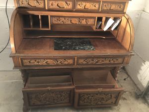 Asian Roll Top Desk for Sale in Seattle, WA
