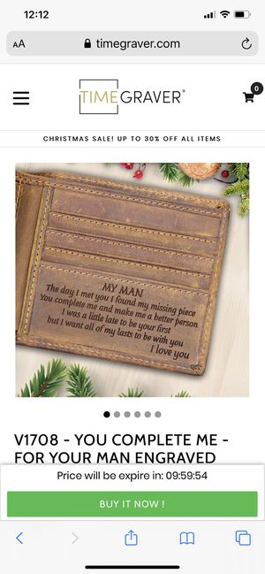 Personalized wallet for a man for Sale in Ansonia, CT