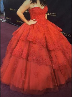 Red Ballgown (Read Below) for Sale in Fallbrook, CA