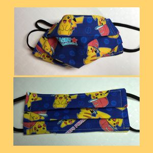 Pokemon Pikachu with Cap Cloth Face Masks for Kids for Sale in Grand Prairie, TX