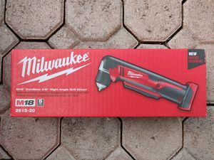 Milwaukee 2615-20 Cordless M18 Right Angle Drill for Sale in Parkland, FL