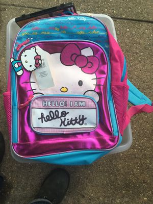 New hello kitty backpack only $10 Firm for Sale in Severn, MD