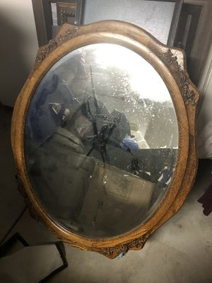 Wall mirror - Oak for Sale in Nuevo, CA