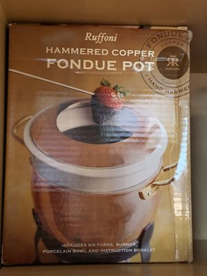 Ruffoni Copper Fondue Pot for Sale in Brookline, MA