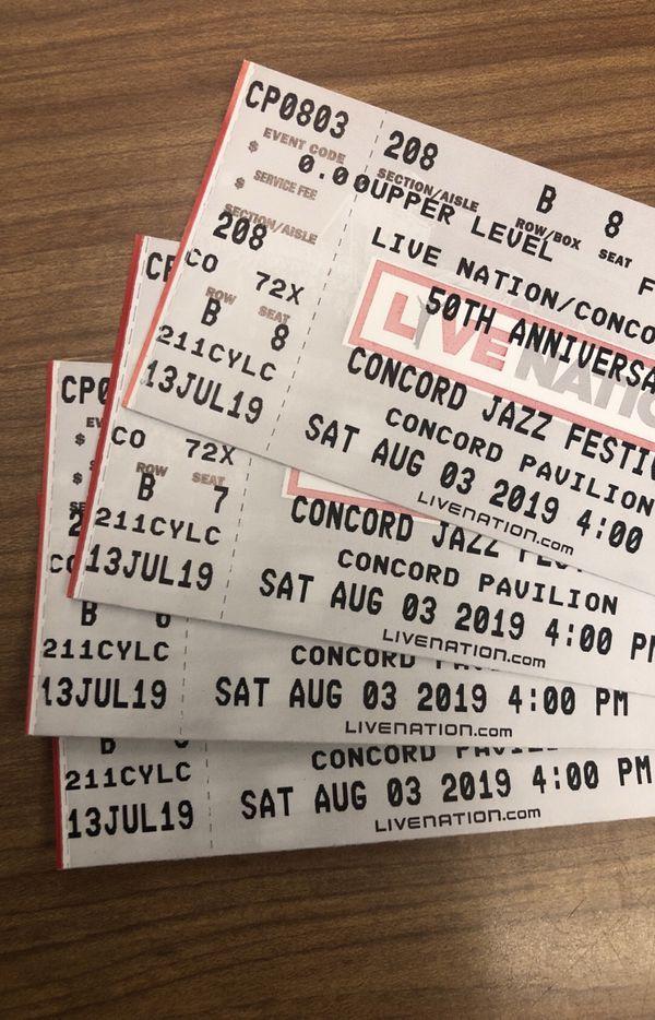 Concord Jazz Festival Tickets- 8/3