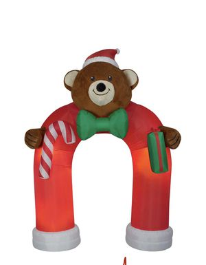 Animated Inflatable Airblown Plush Teddy Bear Archway with Wiggling Bow Tie for Sale in Redmond, WA