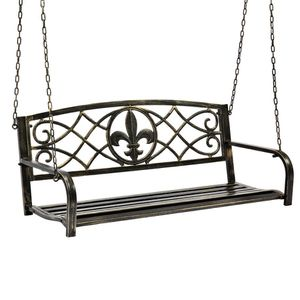 Outdoor Hanging Iron Porch Swing Patio Furniture with Armrests for Sale in Henderson, NV