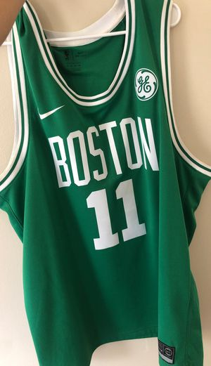 Kyrie Celtics jersey with sponsor logo for Sale in Boston, MA