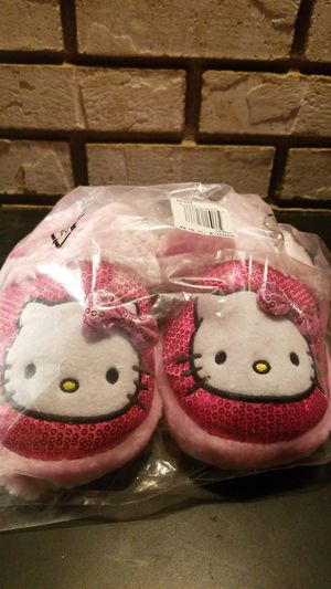 New youth girls slippers Hello Kitty pink sequins sz Small 5 6 for Sale in Clovis, CA