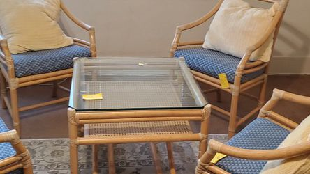 Coffee Table With Set Chairs by MCGUIRE for Sale in Chula Vista,  CA