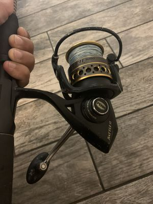 Penn Battle II 5000 Fishing Reel and Rod Combo for Sale in Tampa, FL