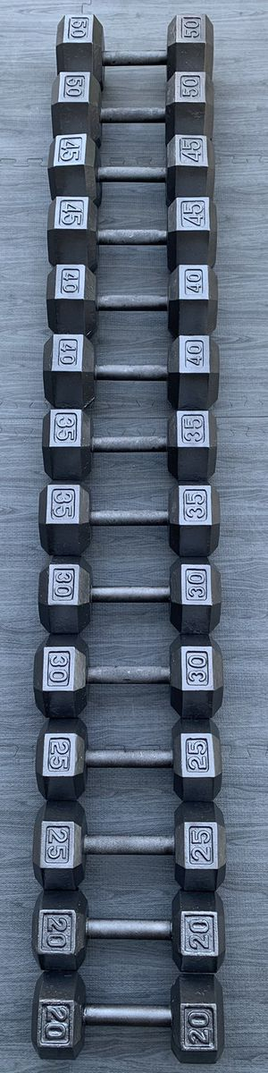 Complete Iron Hex Dumbbell Set (PRICE FIRM) for Sale in Riverside, CA