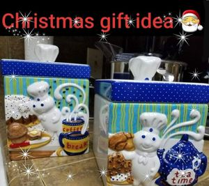 Pillsbury Doughboy 2pc canister set for Sale in Modesto, CA