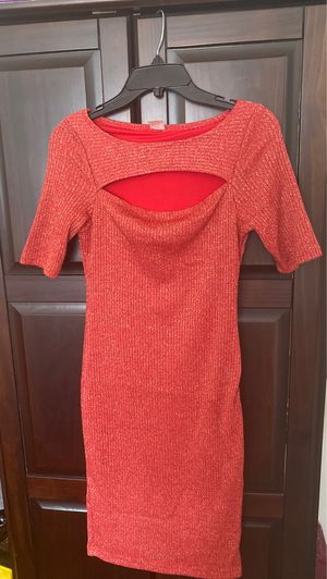 Orange with gold glitter midi dress for Sale in Queens, NY