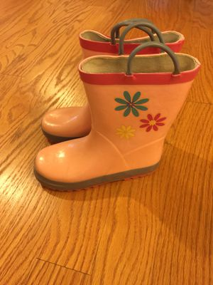 Pink kids rain boots for Sale in Cary, NC