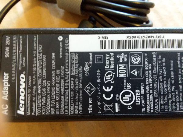 Original Lenovo IBM 20V 4.5A 90W 42T4434 42T4435 AC Laptop Adapter Power Supply