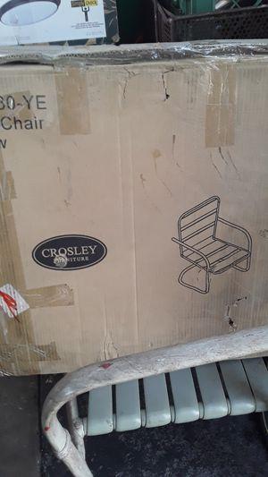 Crosley furniture yellow metal chair for Sale in Bakersfield, CA