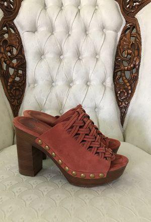 Michael Kors Suede coral slip on platform shoes high heals for Sale in Murrieta, CA