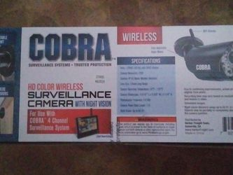 COBRA HD Color Wireless Surveillance Camera With Night Vision for Sale in Taylors,  SC