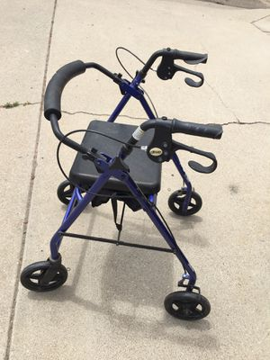 DRIVE, WALKER WITH SEAT, Brake & Swivel wheels, and Storage under seat. Collapsable. for Sale in Oceano, CA