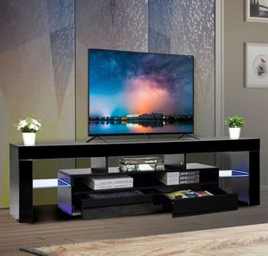 New black tv stand entertainment center wall unit 63 inches for Sale in Orlando, FL
