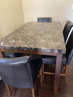 Table with 4 chairs and booth for Sale in North Brunswick Township, NJ