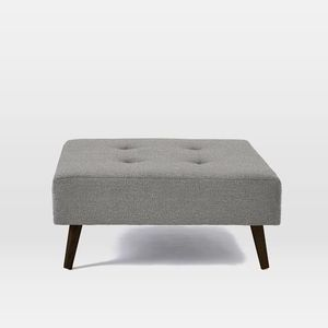 West Elm, Chenille Tweed Ottoman, Feather Grey for Sale in PRINCE, NY