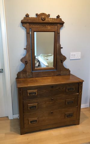 Antique Dresser and Mirror Set For Sale! for Sale in Locust, NJ