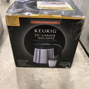 Keurig insulated carafe stainless steel is designed for the 2.0 but is awesome unopened in the box for Sale in Coronado, CA