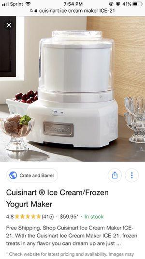 Cuisinart Ice Cream & Sorbet Maker for Sale in Portland, OR