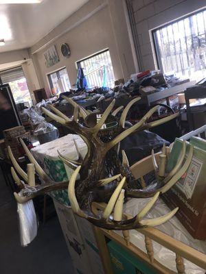 EFFORTINC Vintage Deer Horn Chandelier for Sale in Pomona, CA