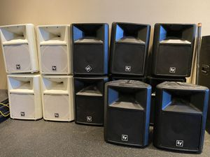 STEREO SYSTEMS SPEAKERS AND STEREO STATION for Sale in Lyndhurst, NJ