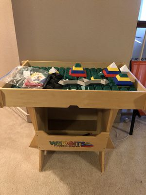 Wedgits Building Blocks - Kids Activity Building Table with Storage for Sale in Houston, TX