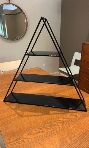 Black metal triangle shelf for Sale in Scottsdale, AZ