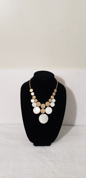 Gold & silver round disc fashion necklace for Sale in Hendersonville, TN