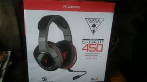 New Turtle Beach ear Force 450 wireless headset with superhuman hearling. stealth 450 ps, Xbox,PC,Mobil for Sale in Del Valle, TX