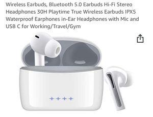 Brand New Wireless Earbuds, Bluetooth 5.0 Earbuds Hi-Fi Stereo Headphones 30H Playtime True Wireless Earbuds IPX5 Waterproof Earphones in-Ear Headpho for Sale in Pittsburgh, PA
