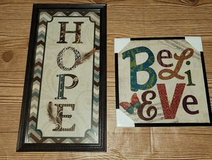 Hope & Believe - Wall Decor for Sale in Columbia, MD