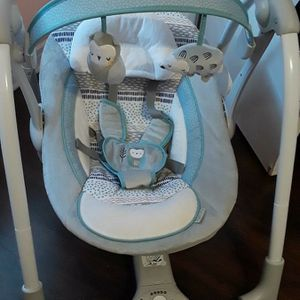 Gently Used Ingenuity Baby Swing, Grey And Blue for Sale in Pasadena, TX
