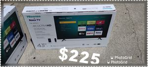 43 INCH HISENSE SMART TV ROKU 4K NEW 📺 ULTRA HD for Sale in Anaheim, CA