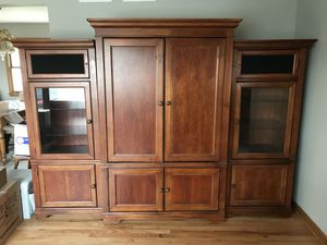Armoire Unit with bookshelves for Sale in Willowbrook, IL