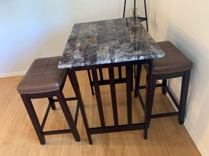 Small high counter table and two stools for Sale in McCleary, WA