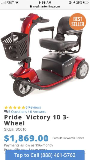 Pride victory 10 three wheeled mobility scooter for Sale in Stockton, CA