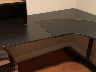 Ikea Bekant Corner Desk Black for Sale in Fairfax,  VA