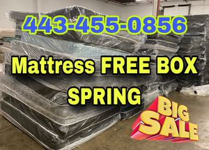 Mattress FREE BOX SPRING ♥️SAME DAY DELIVERY for Sale in Halethorpe, MD