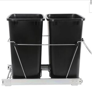 New ZENY™Cabinet Sliding Waste Bin for Kitchen, under desk or wherever you like Duo Pull-Out Recycle Cans Easy Access for Sale in Whittier, CA
